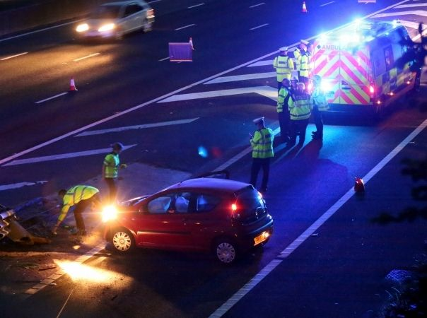 Police Close Two Lanes Of The M27 Motorway And Rownham Services  Eastbound Following Serious Collision