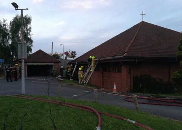 quick action by fire crews save a basingstoke church