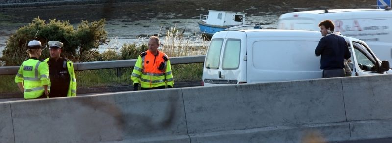 white van man substains arm injury following collision on the m275 in portsmouth