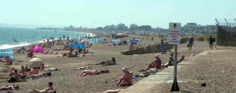 woman left distressed after man exposes himself on portsmouth beach