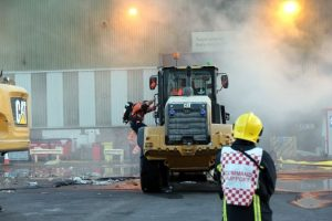 100 tonnes of rubbish still alight at biffa recycling centre in marchwood