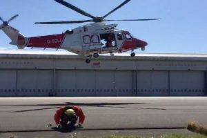 coastguard rescue helicopter team rise to the 21 day challenge
