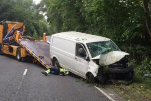 collision closes romsey by pass road