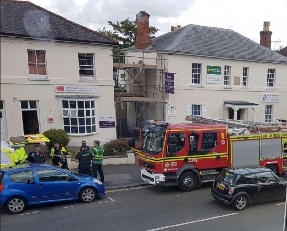 Man Taken To Hospitial And Building Evacuated In Farnborough