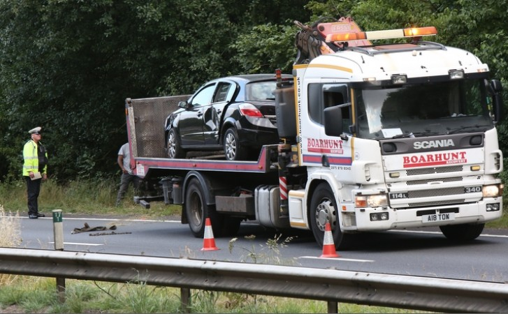 One  Lane Of Southbound A3  Is Closed After Car Leaves Carriageway Near Buriton