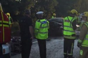 pensioner fighting for her life after head on crash near west wellow