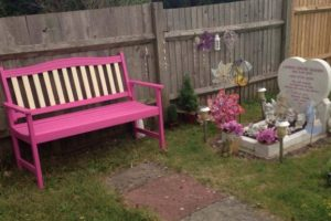 sick thieves steal painted bench from grave