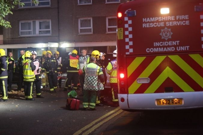 100 Firefighters Tackle Flat Fire In Portsmouth
