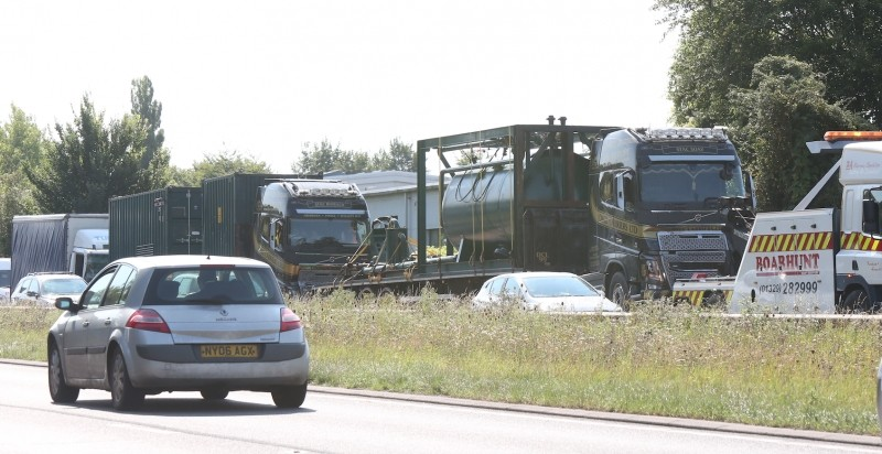 Driver Cut Free After Four Lorry  Pile Up On A34 Near Winchester