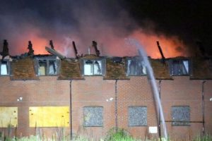 fire crews called in to tackle disused hotel blaze in hockley heath
