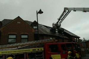fire rips through block of flats on isle of wight