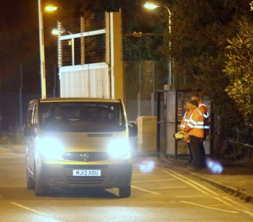 guard of honour as a mans body is recovered from didcot power station