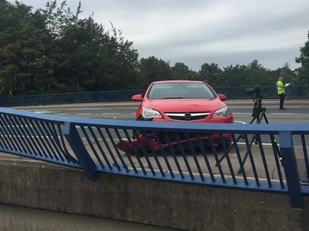 Pedestrian Fights For  Life After Serious  Two Car Collision In Basingstoke Knocks Them From A Bridge