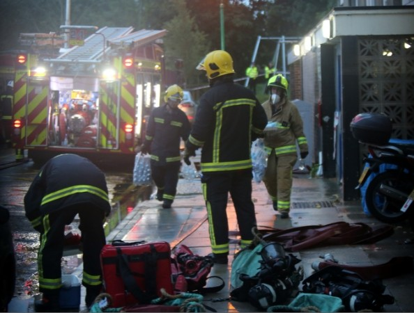 two hurt after major incident at portsmouth tower block