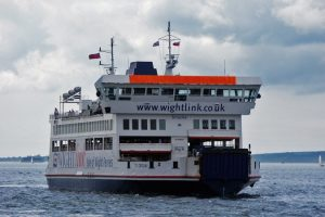 wightlink ferry on fire off isle of wight
