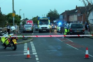 cyclist rushed to hospital after being hit by car in bridgemary gosport