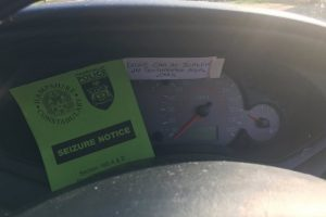 driver writes note about speeding is nicked for drink driving and no insurance
