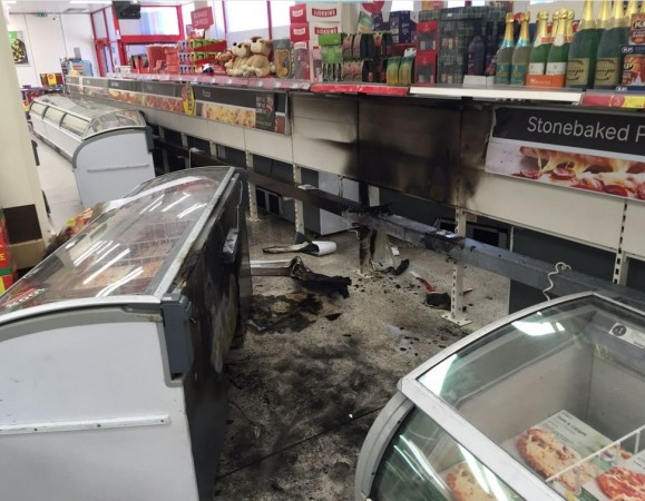 Fire Crews Tackle Deep Freeze Fire At Supermarket In Basingstoke