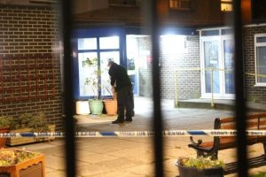 four arrested by police after man stabbed following attack clown in southsea