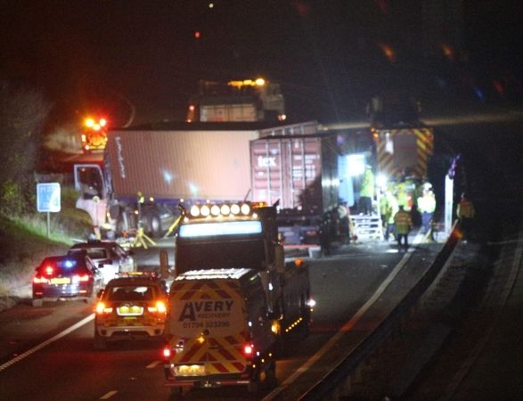 lorry driver charged after double death horror crash on m271 in southampton