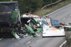 lorry driver killed after two lorries collide on a27 chichester