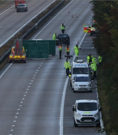 M3 Motorway Southbound  Closed After Fatal Rush Hour Collision Near Basingstoke