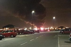 major blaze breaks out on merseyside
