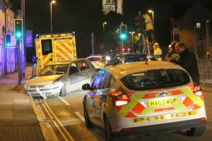 man faces drink drive charges after making off and crashing from police