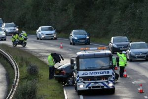 part of a3 closed following collision on the a272 petersfield