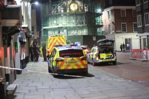 police cordon off chichester town centre after armed standoff with man