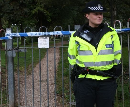 police seal off edmonds park in didcot after woman is raped