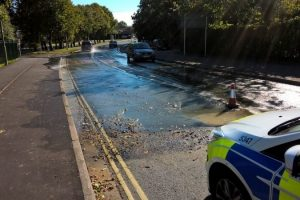 sinkhole closes major road in fareham