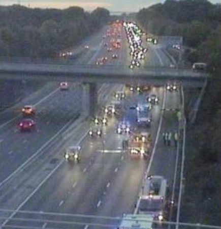 Two Lanes Blocked On M27 After Collision Near Whiteley