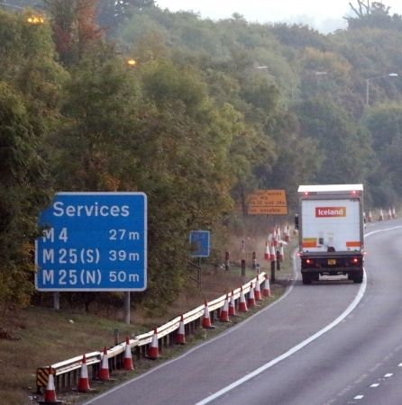 Woman Killed After She Was Struck By  Iceland  Lorry On M4 Motorway In Berkshire