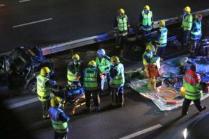 a3 closure following collision near havant