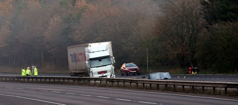fatal collision on a3 after person hit by lorry
