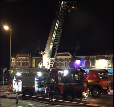 fierce fire tackled by fifty firefighters overnight in southampton