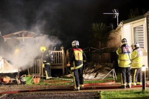 fire rips through park dean holiday park on hayling island described as something out of a war zone