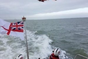 kayaker rescued by royal navy warship after capsizing in the solent