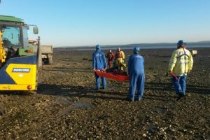 man rescued from mud by coastguard and fire service in lymington