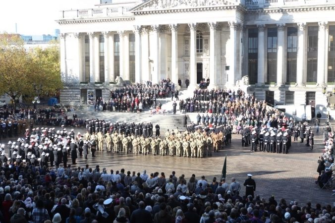 poignant remembrance day service in portsmouth