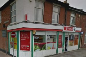 police hunt knife wielding robber after shop hold up in portsmouth