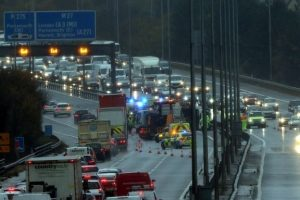 police investigate if bin lorry may have been speeding following crash on m27 motorway