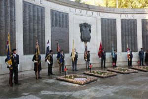portsmouth fell silent to remember the lives of those lost in war