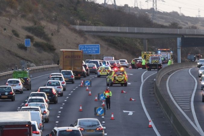 serious collision on m27 eastbound near fareham