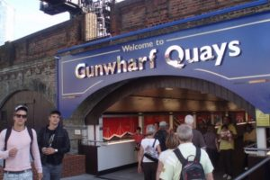 woman hit on the head with bottle outside of gunwarf quays in portsmouth