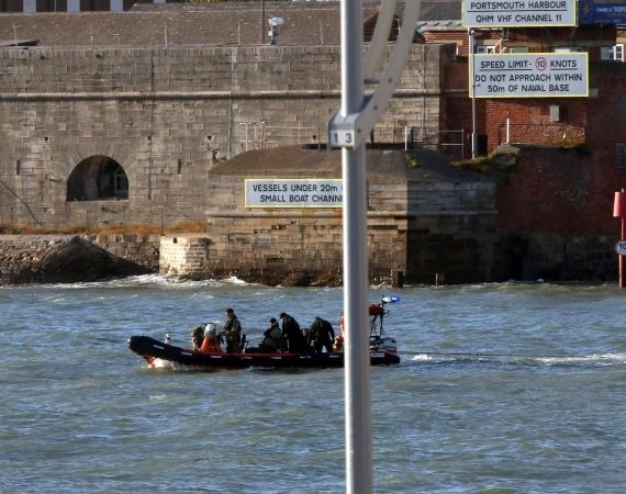 world war two bomb moved out to sea by royal navy bomb squad