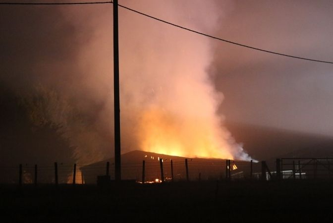Arson Probe Launched As Fire Crews  Battle Two Barn Fires In Hampshire Villiage