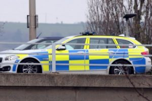 coach collides with car on a27 eastern road flyover