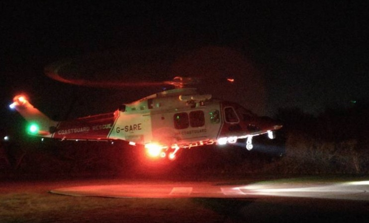coastguard rescue helicopter scrambled to save heart attack patient from the isle of wight